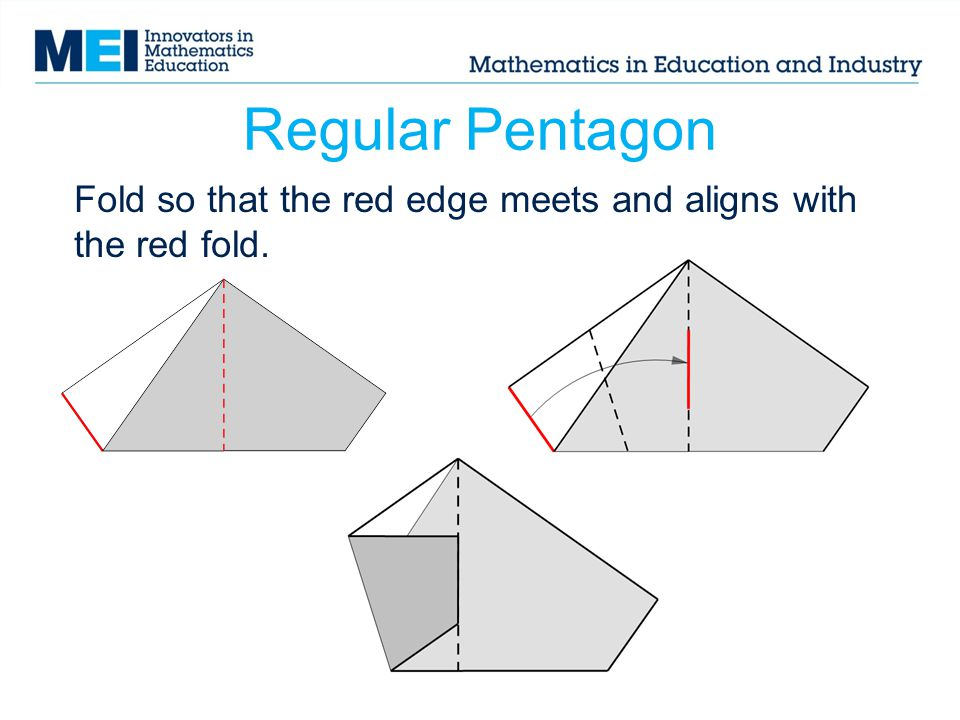 Fold so that the red edge meets and aligns with the red fold.
