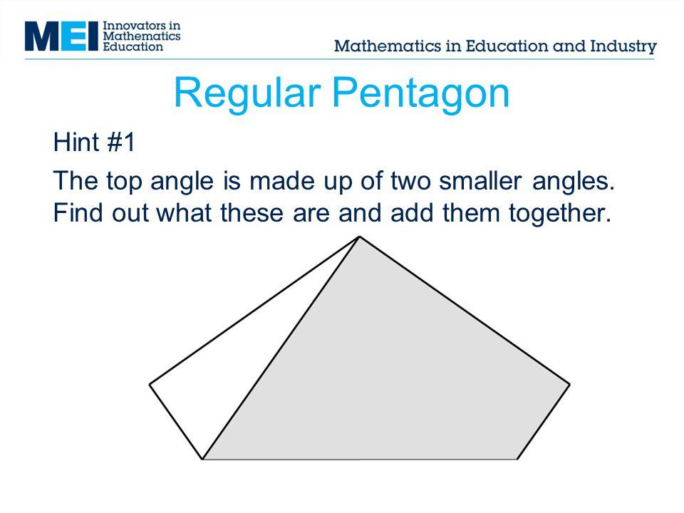 Regular Pentagon Hint #1