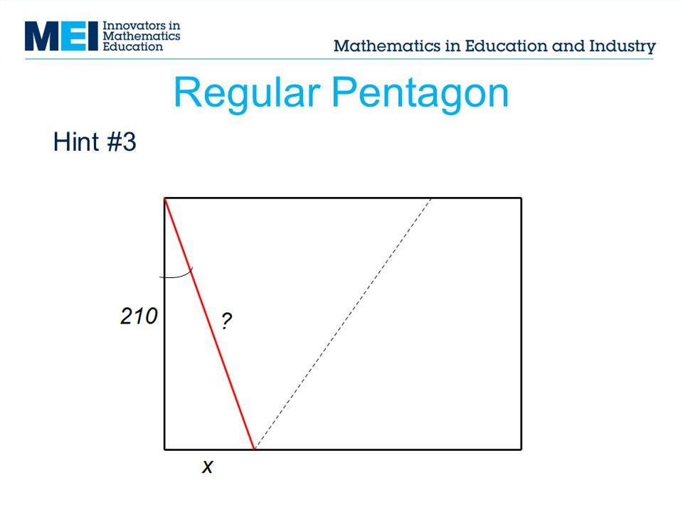 Regular Pentagon Hint #3