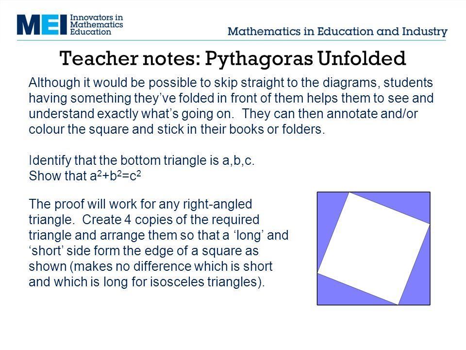 Teacher notes: Pythagoras Unfolded