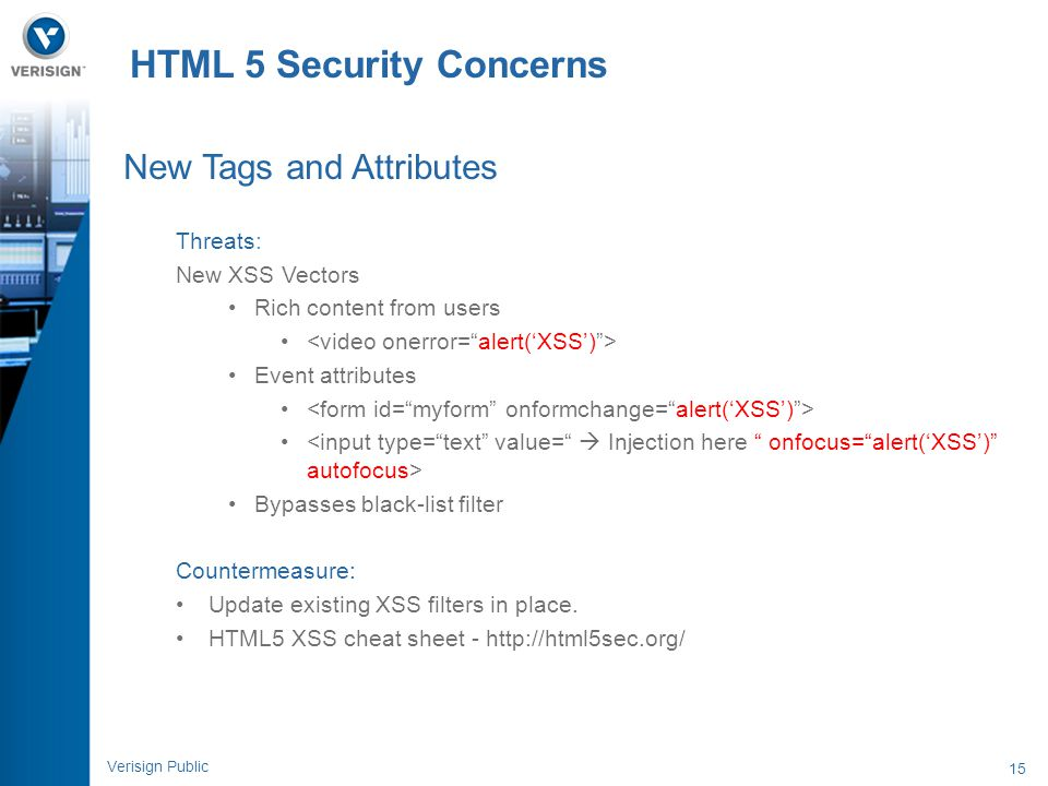 HTML 5 Security Concerns