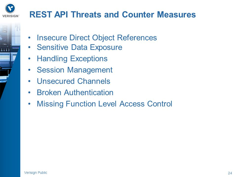 REST API Threats and Counter Measures