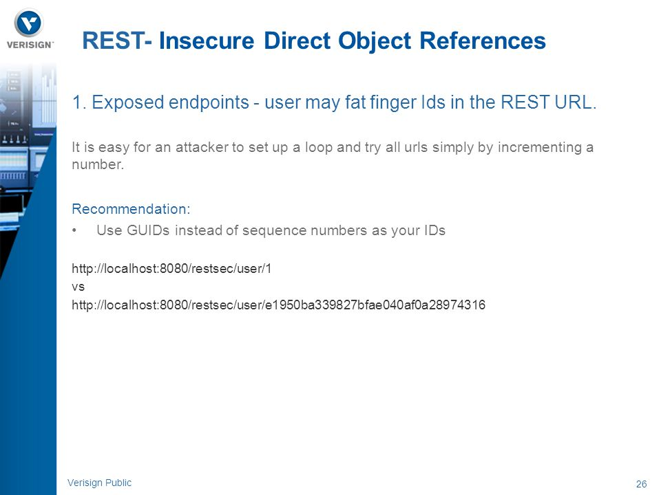 REST- Insecure Direct Object References