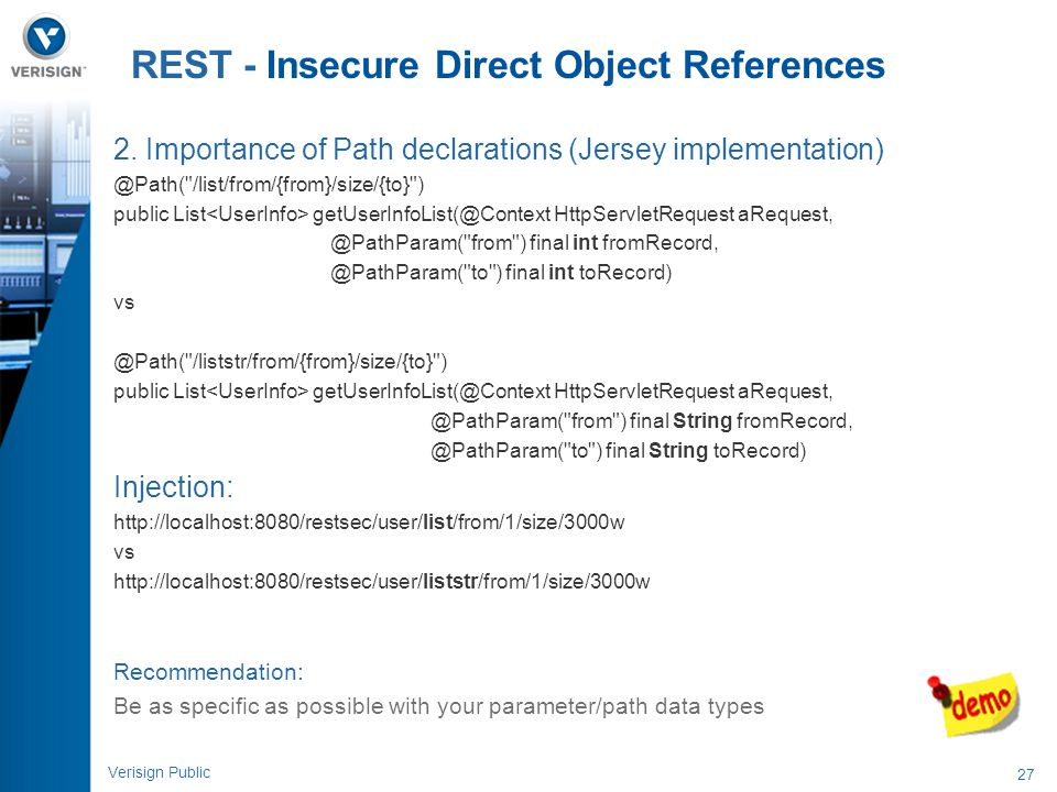 REST - Insecure Direct Object References