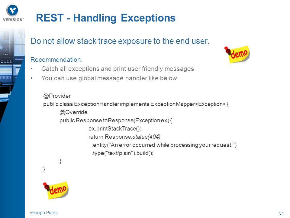 REST - Handling Exceptions