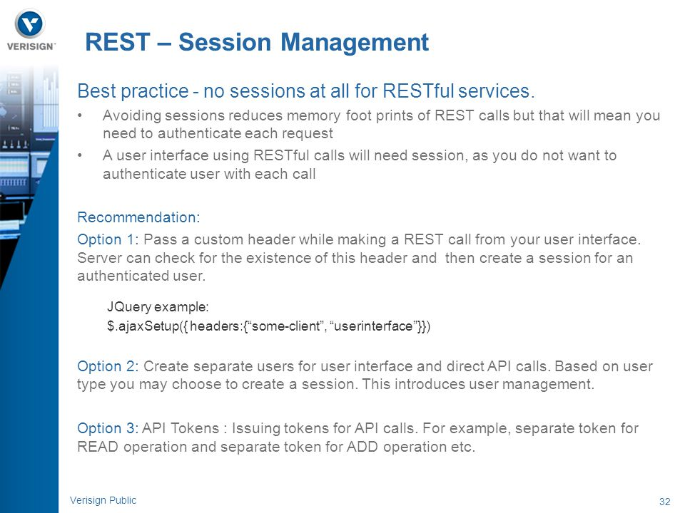 REST – Session Management