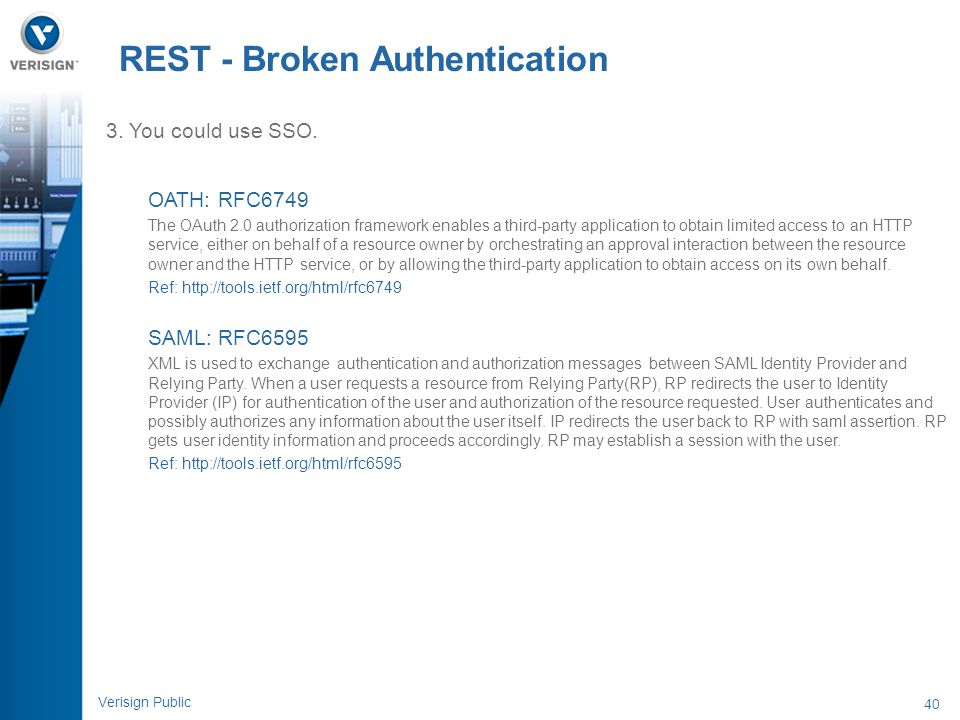 REST - Broken Authentication