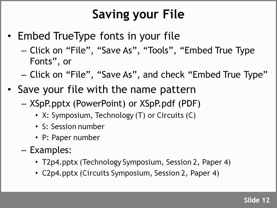 Uploading your Presentation