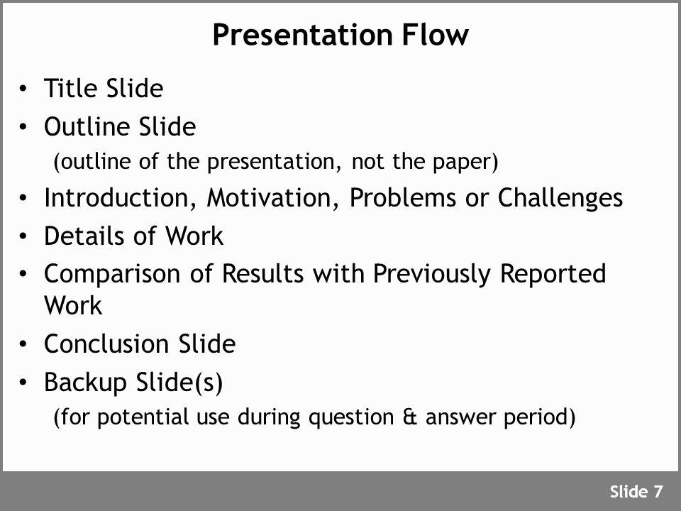 Text Slides Use short phrases, not long sentences.