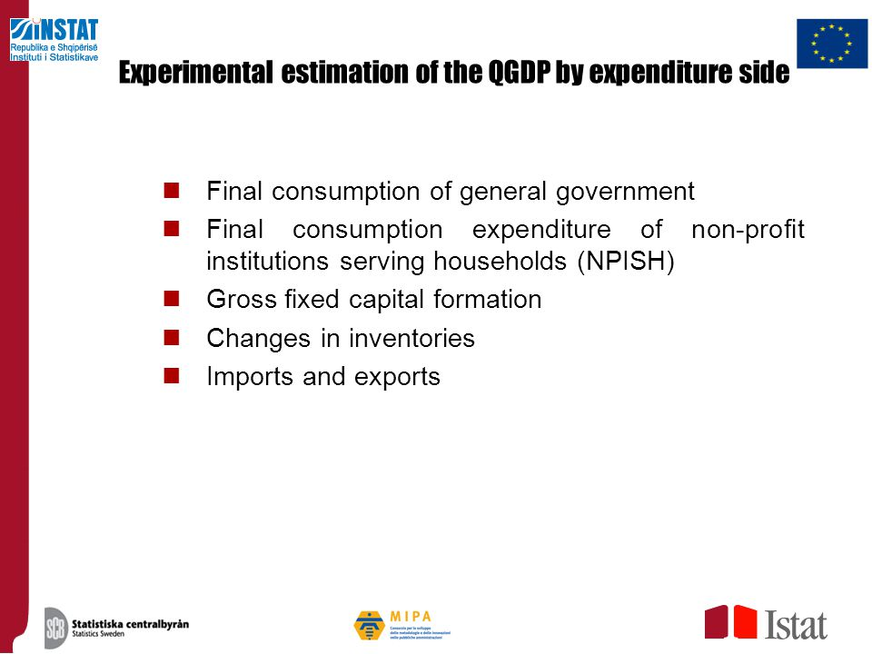 Experimental estimation of the QGDP by expenditure side