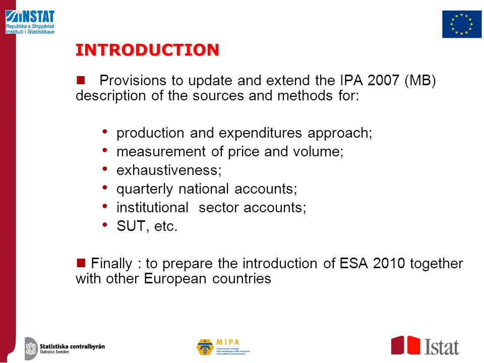 INTRODUCTION production and expenditures approach;