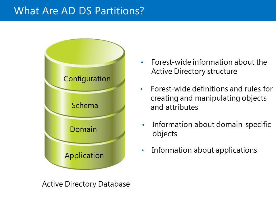 What Are AD DS Partitions
