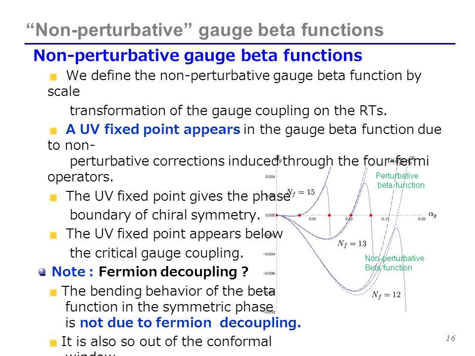 Non-perturbative gauge beta functions