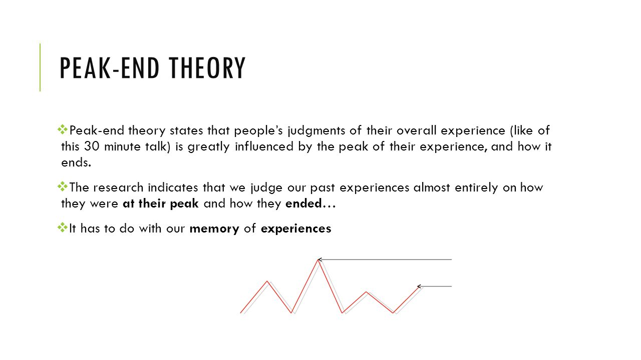 Peak-end theory