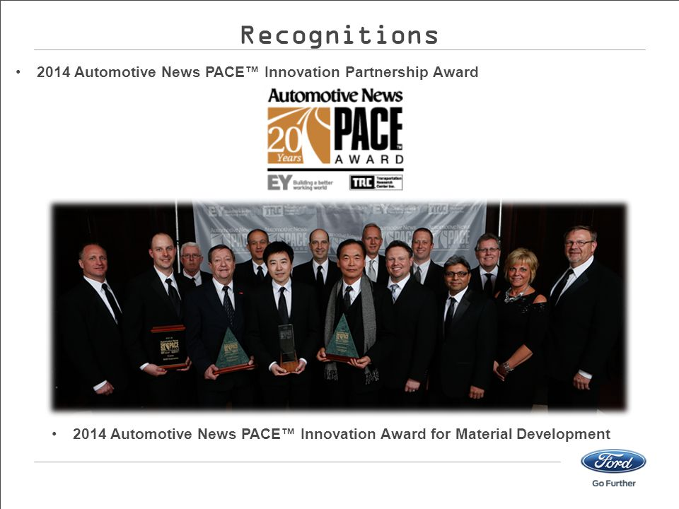 2014 Automotive News PACE™ Innovation Award for Material Development
