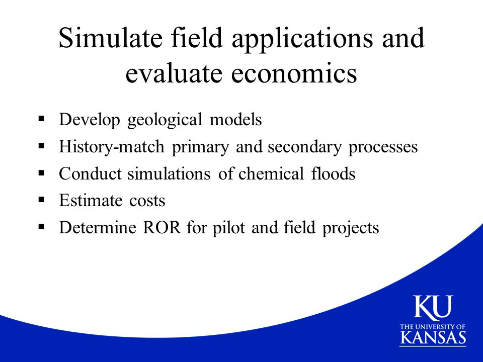 Simulate field applications and evaluate economics