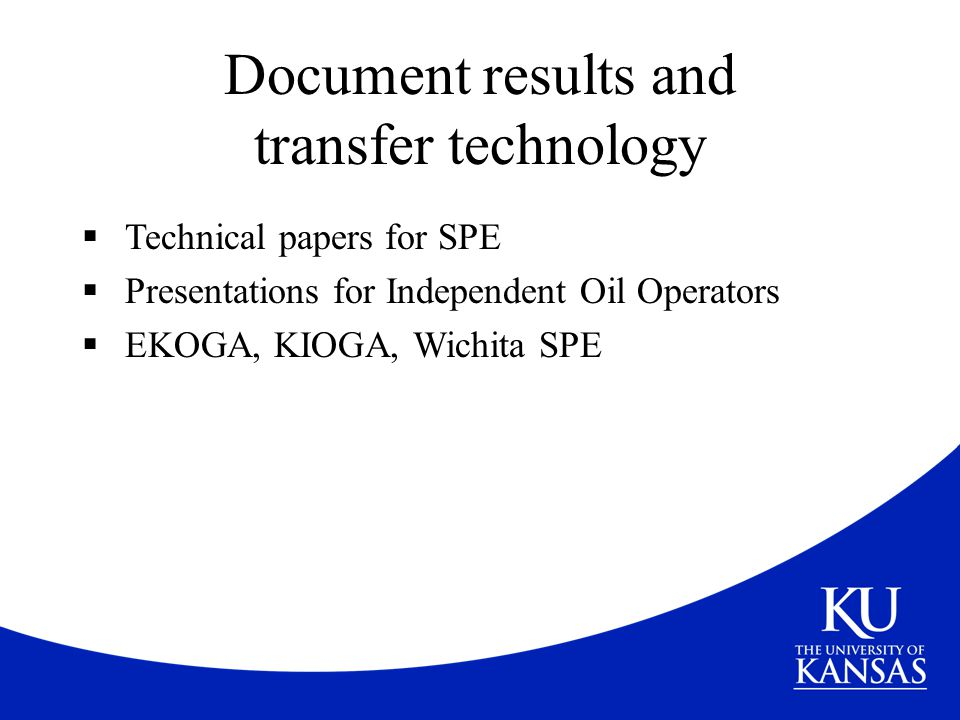 Document results and transfer technology