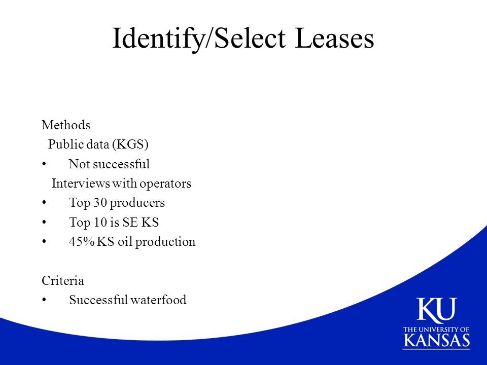 Identify/Select Leases