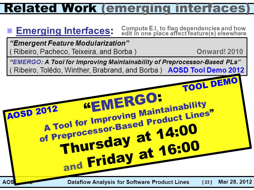 Related Work (emerging interfaces)