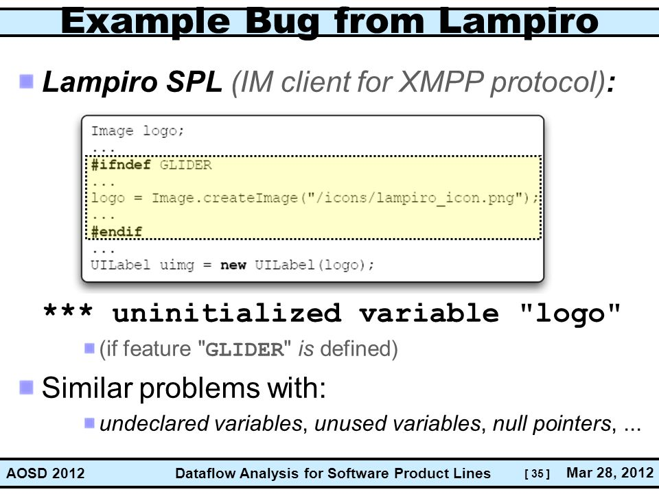 Example Bug from Lampiro
