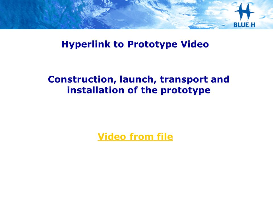 Hyperlink to Prototype Video