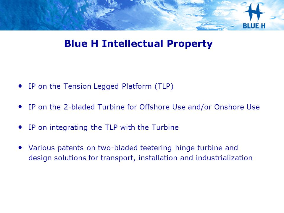 Blue H Intellectual Property
