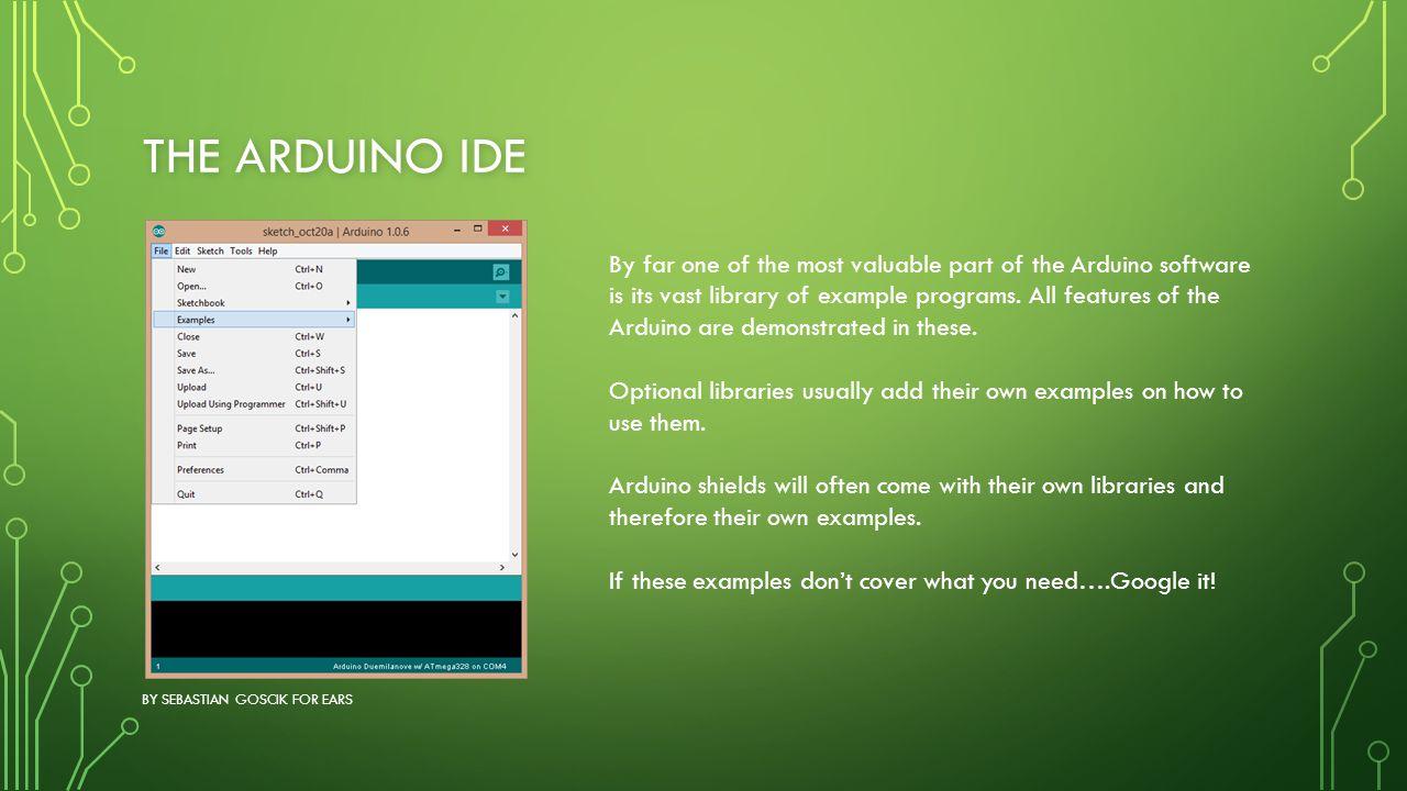 The Arduino IDE