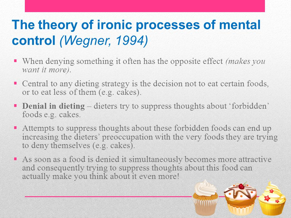 The theory of ironic processes of mental control (Wegner, 1994)