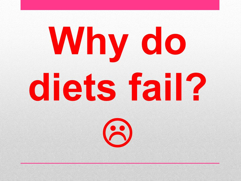 Why do diets fail 