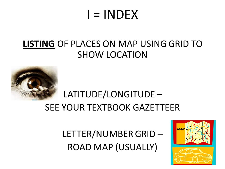 I = INDEX