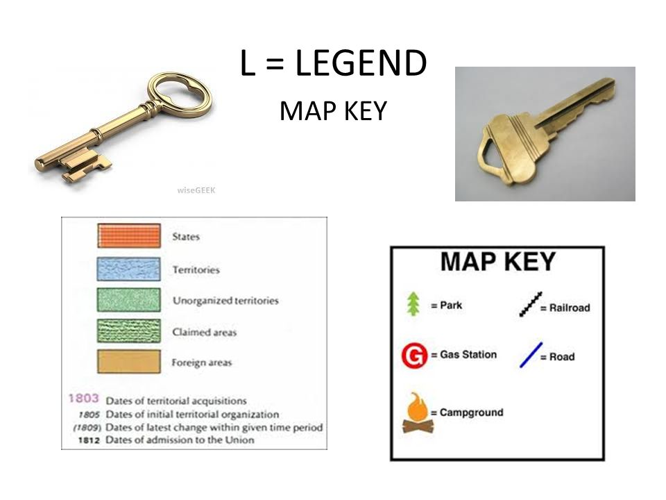 L = LEGEND MAP KEY
