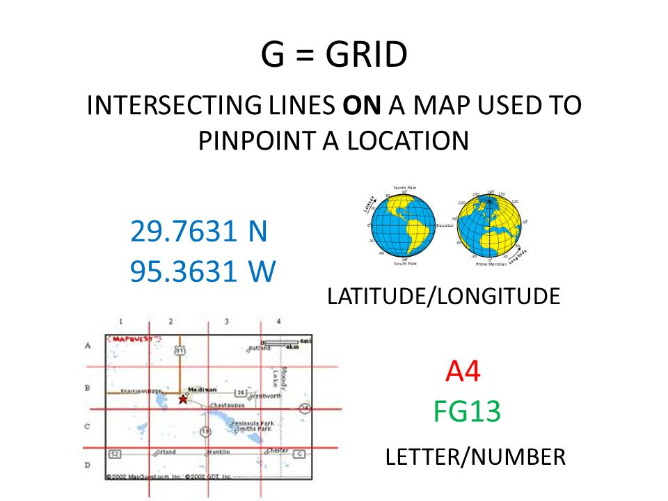 INTERSECTING LINES ON A MAP USED TO PINPOINT A LOCATION