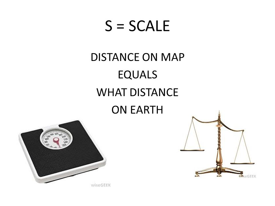 DISTANCE ON MAP EQUALS WHAT DISTANCE ON EARTH