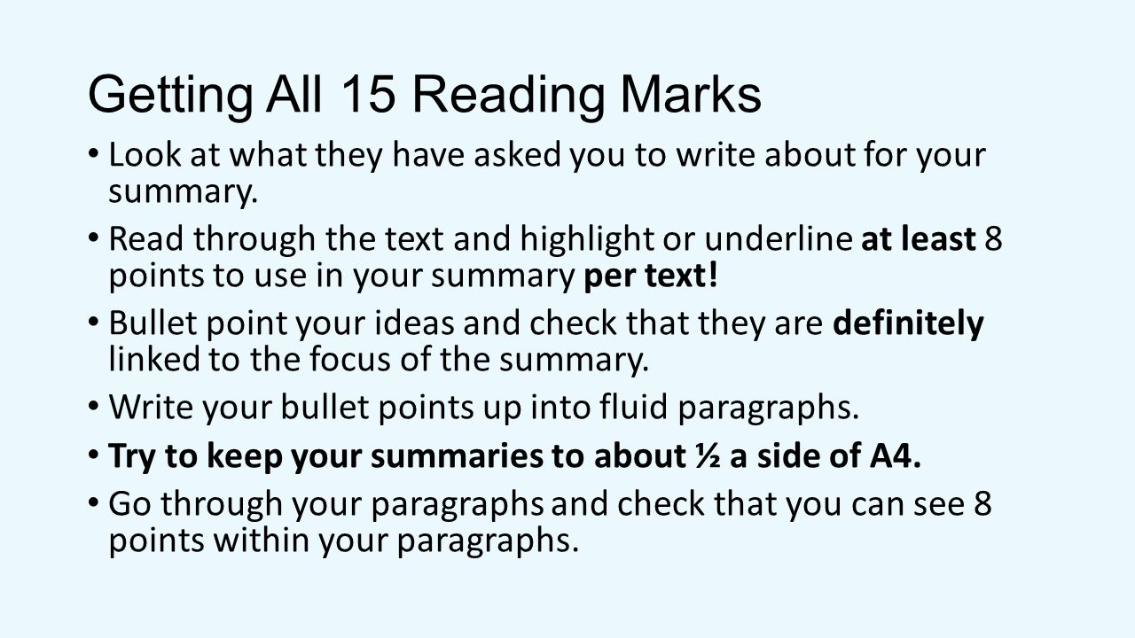 Getting All 15 Reading Marks