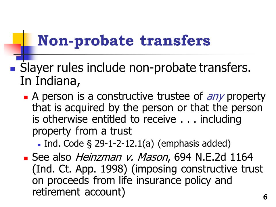 Non-probate transfers