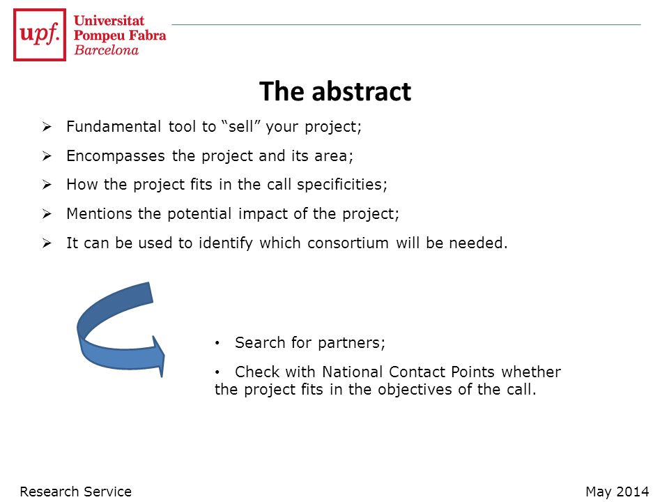 The abstract Fundamental tool to sell your project;