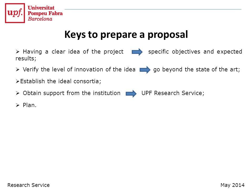 Keys to prepare a proposal
