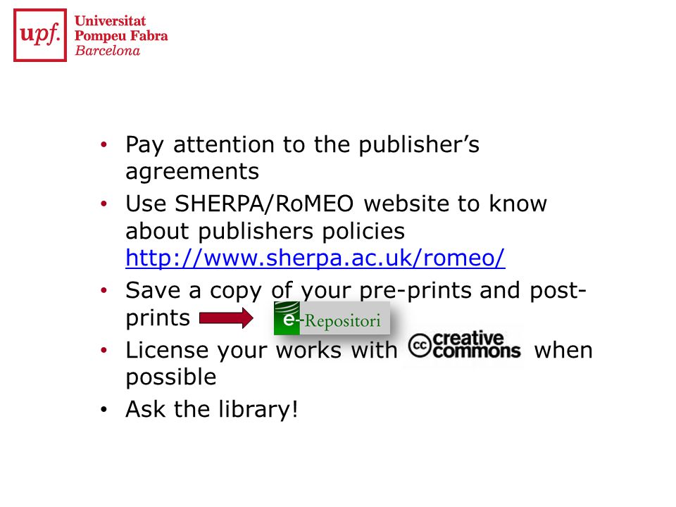 Pay attention to the publisher's agreements