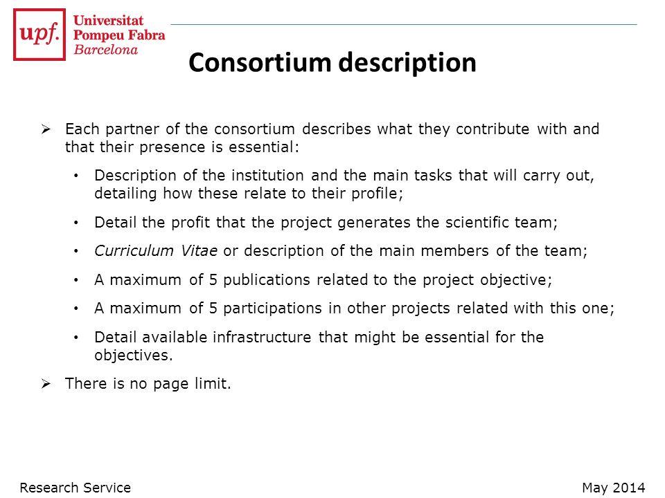 Consortium description