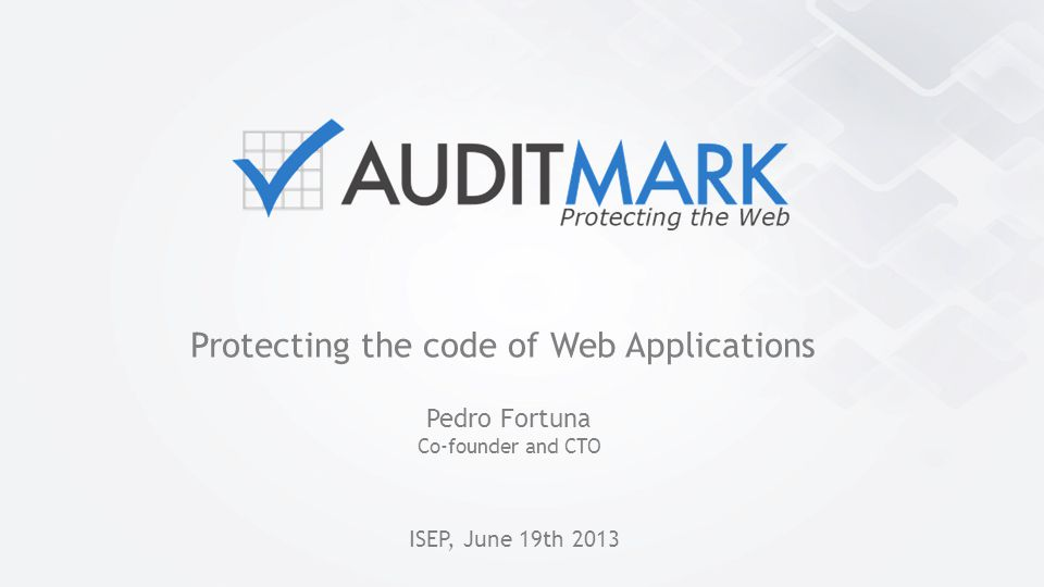 Protecting the code of Web Applications
