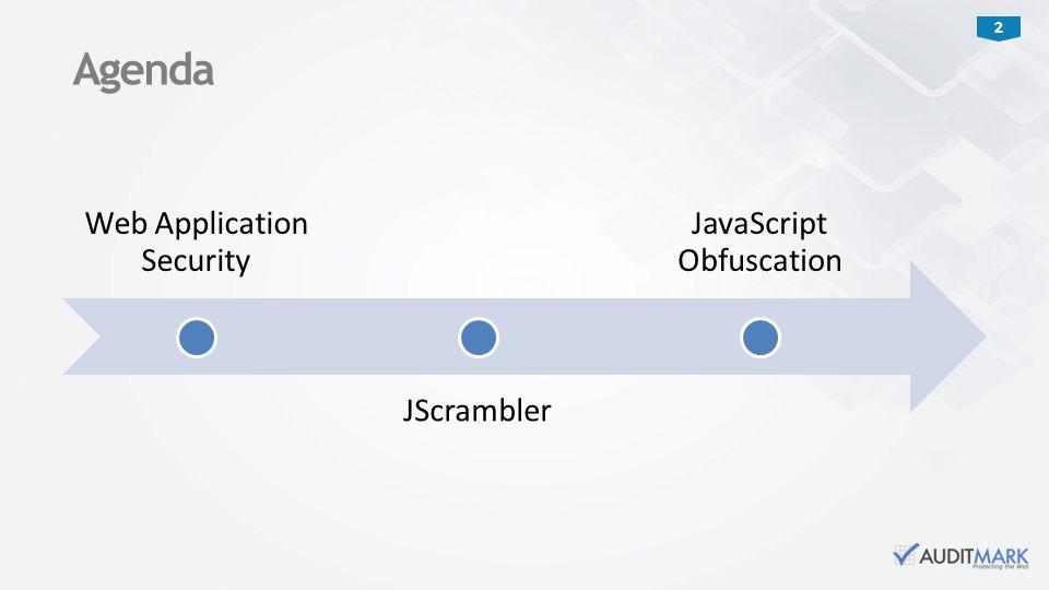 Agenda Web Application Security JScrambler JavaScript Obfuscation