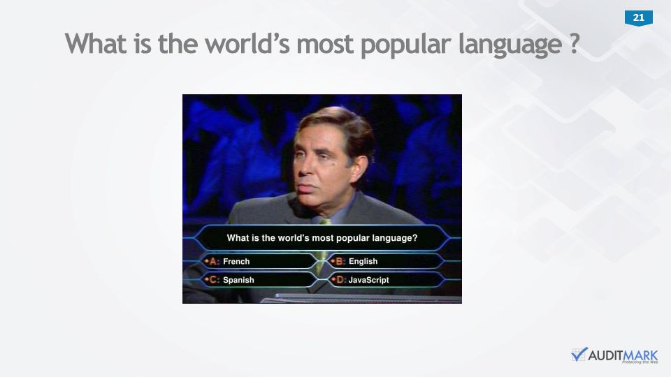 What is the world's most popular language