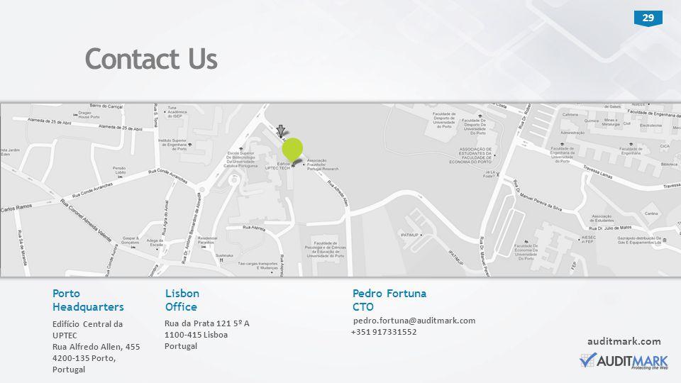 Contact Us Porto Headquarters Lisbon Office Pedro Fortuna CTO