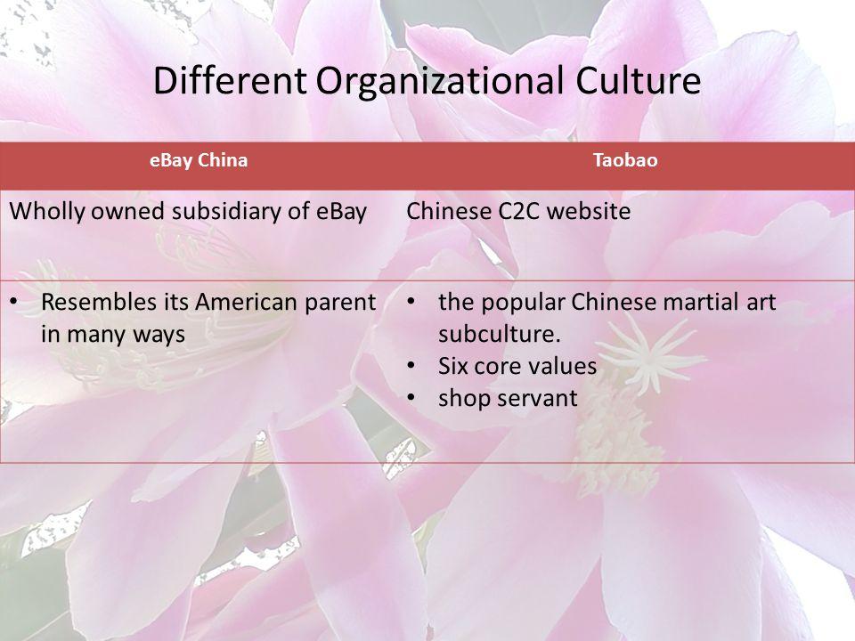 Different Organizational Culture