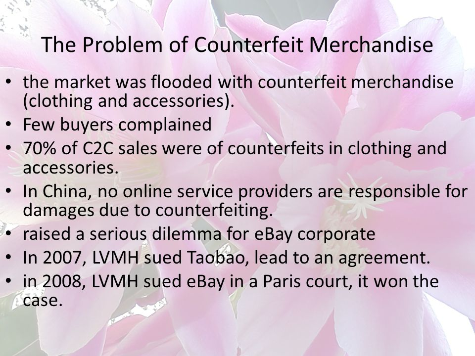 The Problem of Counterfeit Merchandise