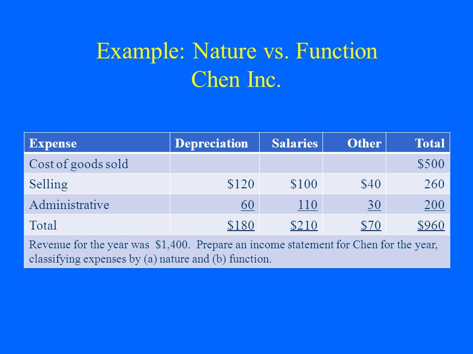 Example: Nature vs. Function Chen Inc.