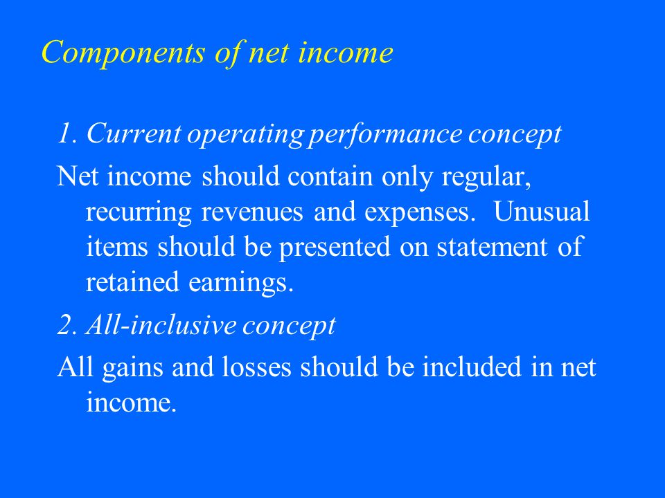 Components of net income