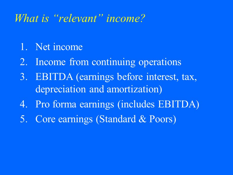 What is relevant income