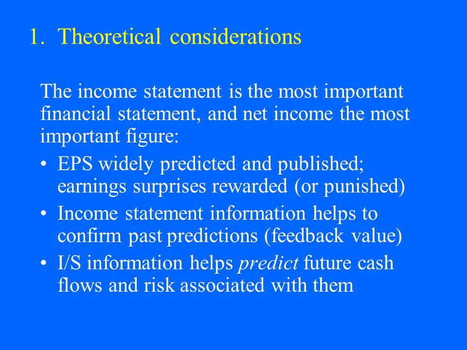 1. Theoretical considerations