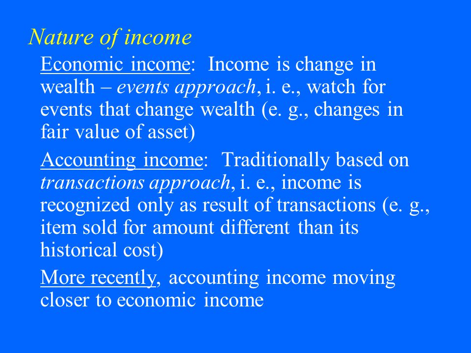Nature of income